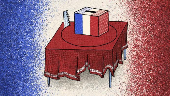 French ballot box