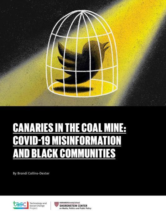 Canaries in the Coal Mine: Covid-19 Misinformation and Black Communities report cover