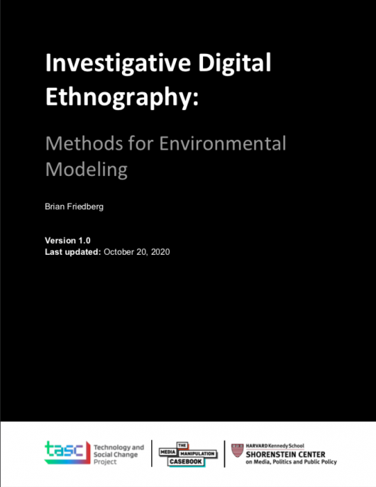 Investigative Digital Ethnography