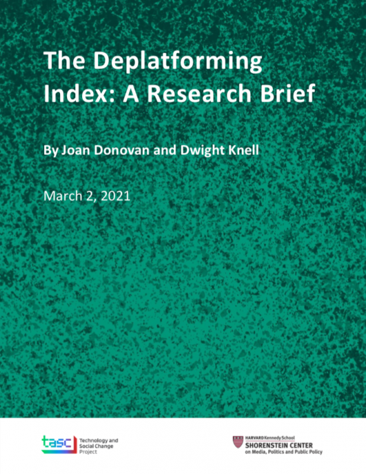 Cover of The Deplatforming Index: A Research Brief